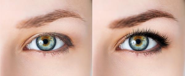 Vergleich nach Wimpernverlängerung & Augenbraunfärbung - Skin & Colour Kosmetikstudio by Dilek in Ingolstadt